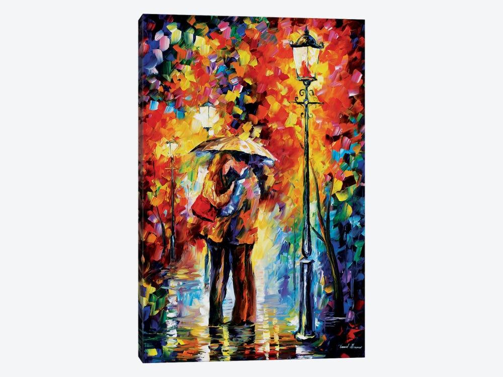 Kiss Under The Rain by Leonid Afremov 1-piece Canvas Wall Art