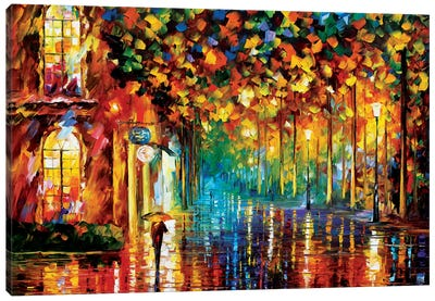 Late Stroll Canvas Art Print