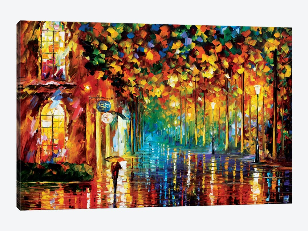 Late Stroll by Leonid Afremov 1-piece Canvas Print
