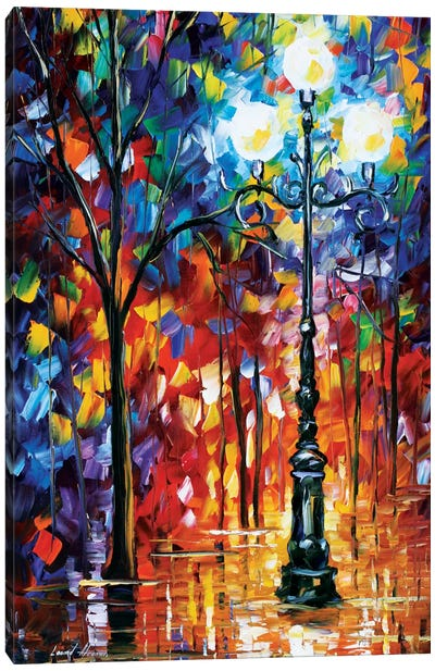 Light In The Alley Canvas Art Print
