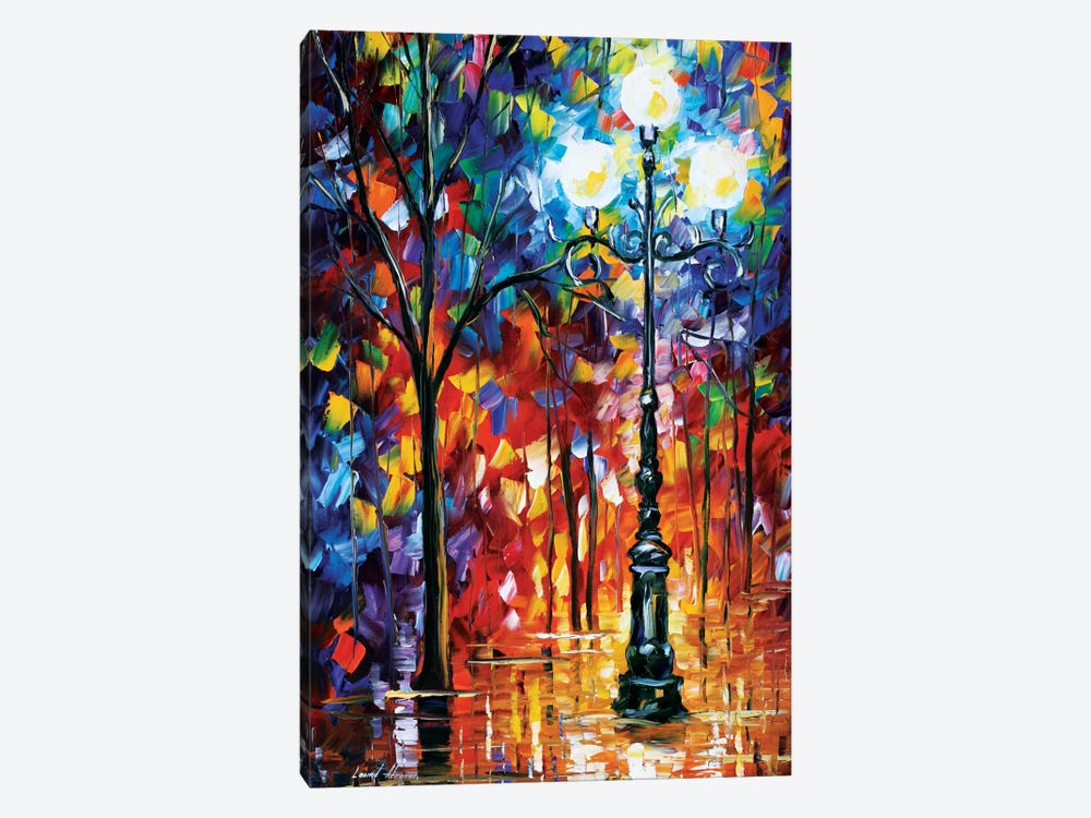 Light In The Alley by Leonid Afremov 1-piece Canvas Artwork