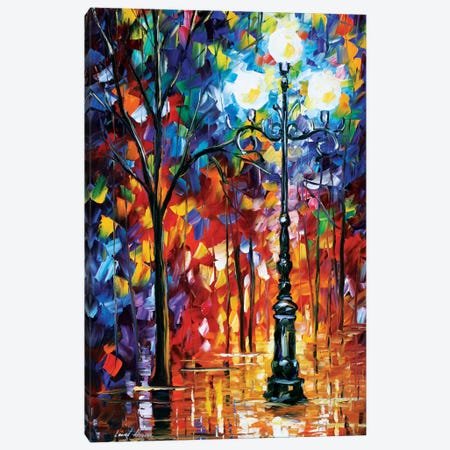 Light In The Alley Canvas Print #LEA38} by Leonid Afremov Canvas Wall Art