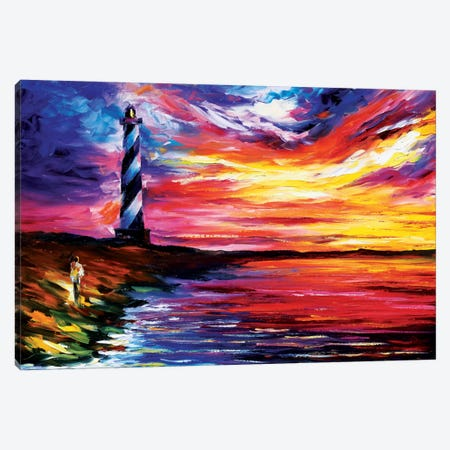 Lighthouse Canvas Print #LEA39} by Leonid Afremov Canvas Wall Art