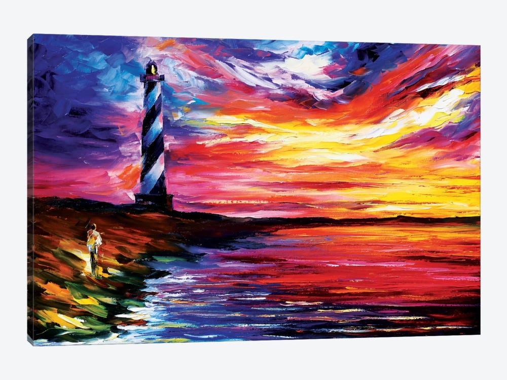 Lighthouse by Leonid Afremov 1-piece Canvas Art Print