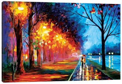 Alley By The Lake II by Leonid Afremov Art Print