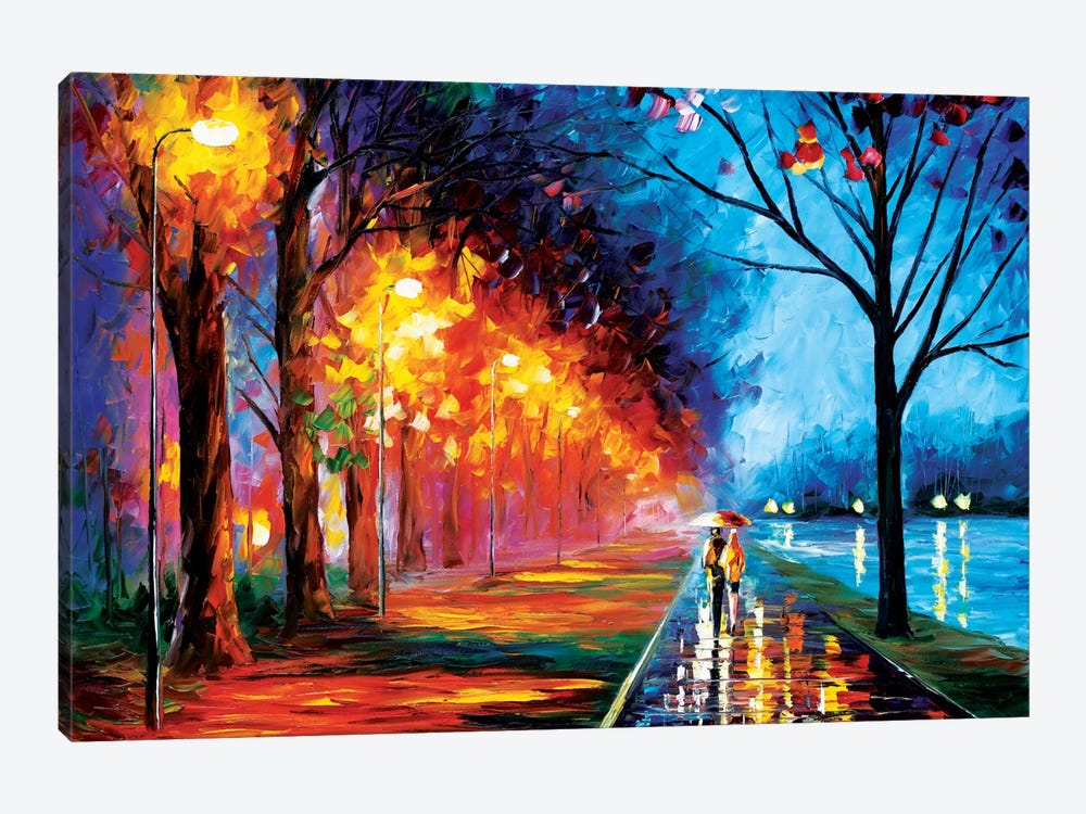 Alley By The Lake II by Leonid Afremov 1-piece Canvas Wall Art