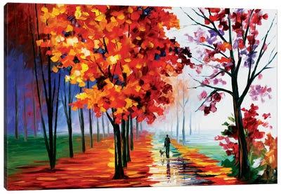 Lilac Fog Canvas Art Print
