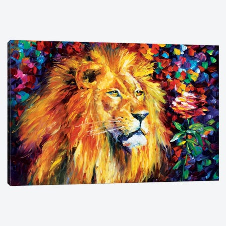 Lion Canvas Print #LEA41} by Leonid Afremov Art Print