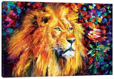 Lion Canvas Print #LEA41