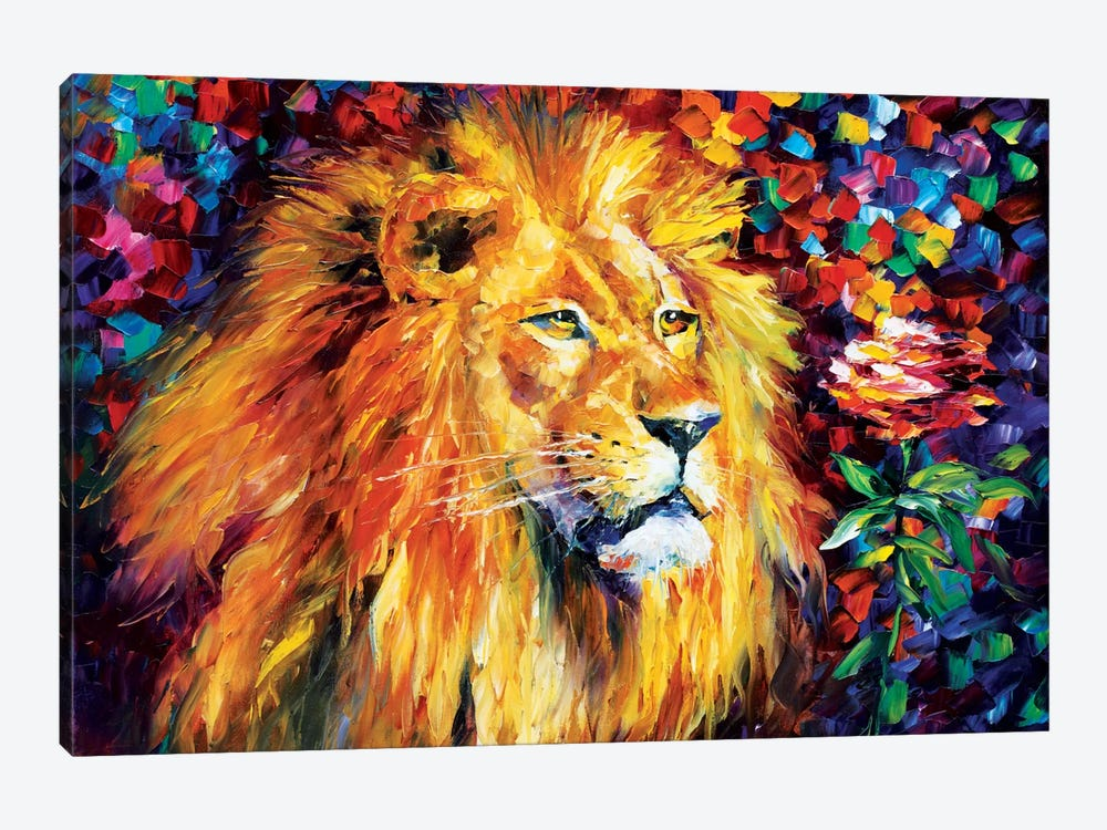 Lion by Leonid Afremov 1-piece Canvas Wall Art