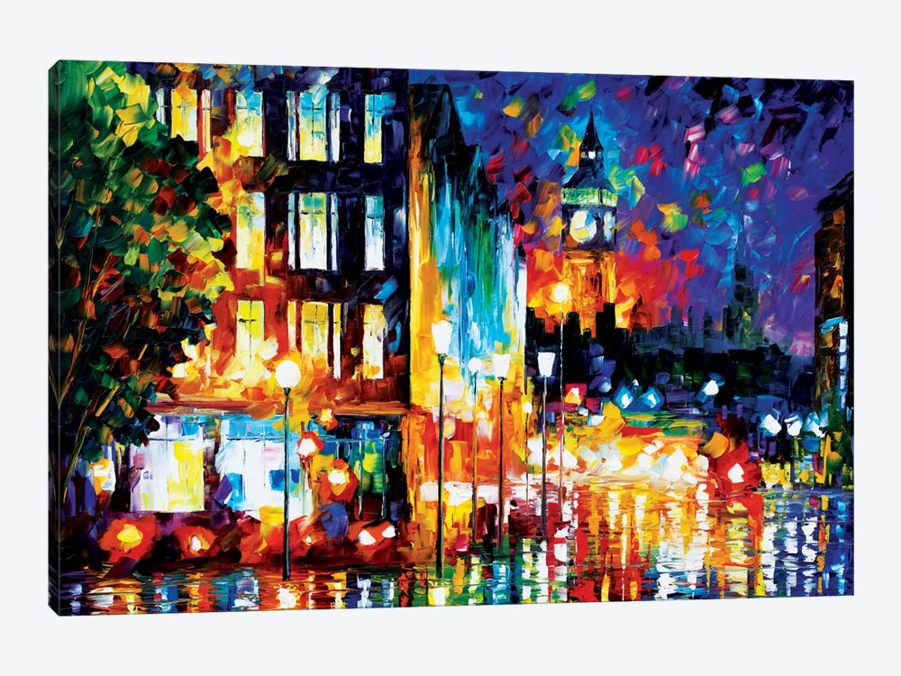 London's Lights by Leonid Afremov 1-piece Canvas Artwork