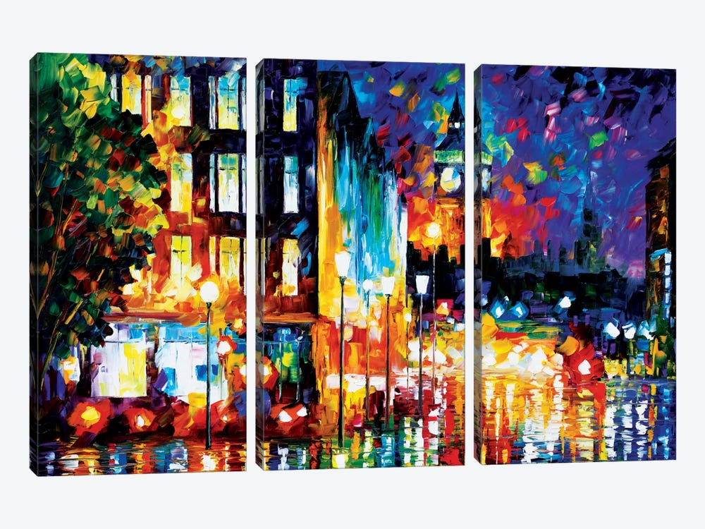 London's Lights by Leonid Afremov 3-piece Canvas Artwork
