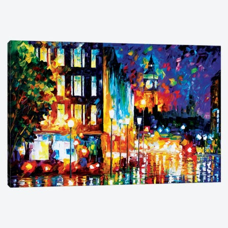 London's Lights Canvas Print #LEA43} by Leonid Afremov Canvas Print