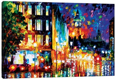 London's Lights Canvas Art Print
