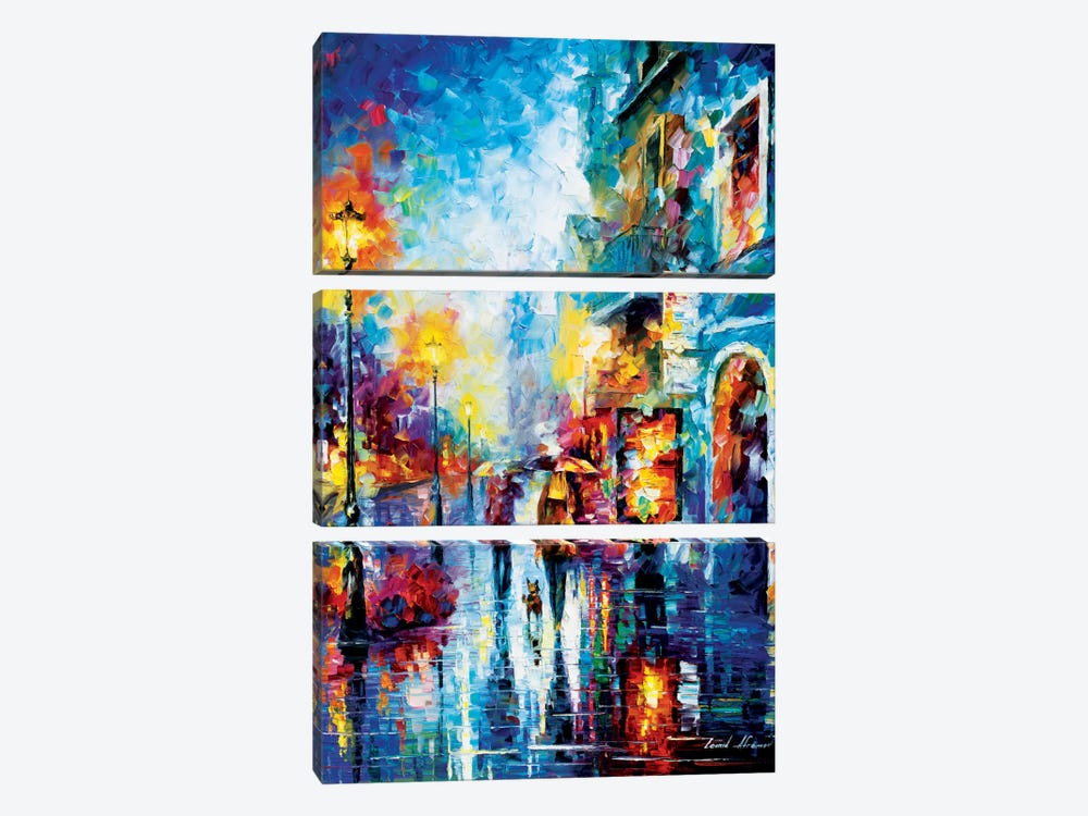 Melody Of Passion by Leonid Afremov 3-piece Canvas Wall Art