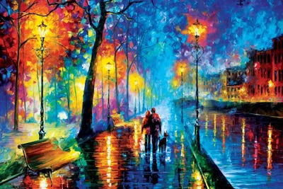 Melody Of The Night Canvas Artwork By Leonid Afremov Icanvas