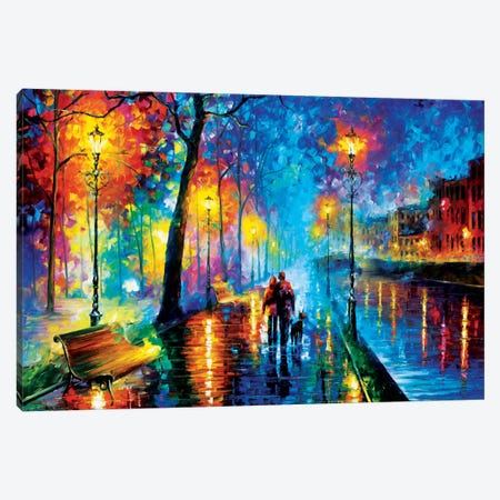 Melody Of The Night Canvas Print #LEA46} by Leonid Afremov Canvas Wall Art