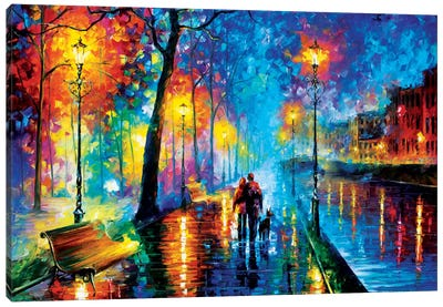 Melody Of The Night by Leonid Afremov Canvas Wall Art