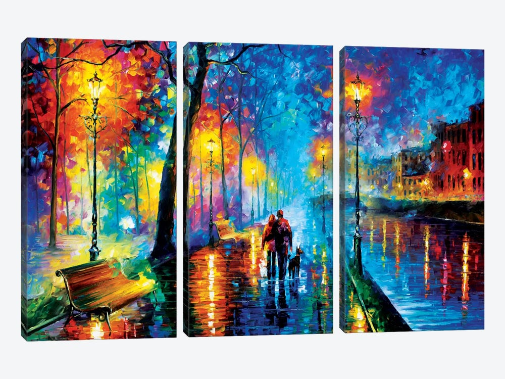 Melody Of The Night by Leonid Afremov 3-piece Canvas Art Print