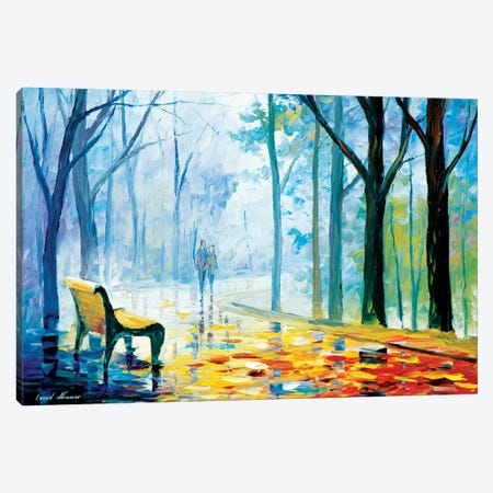 Misty Alley Canvas Print #LEA47} by Leonid Afremov Canvas Wall Art