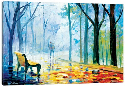 Misty Alley Canvas Print #LEA47