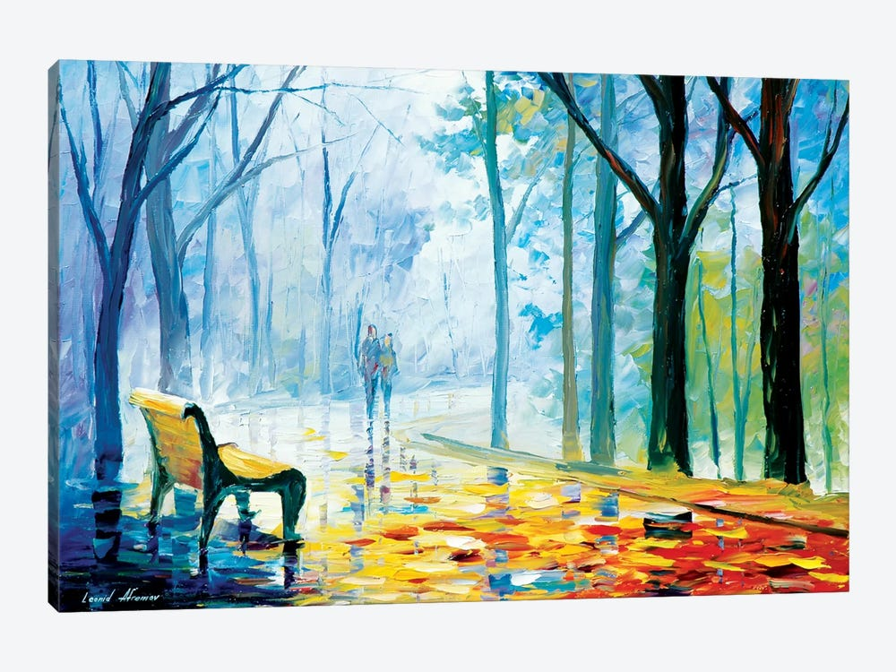 Misty Alley by Leonid Afremov 1-piece Canvas Wall Art