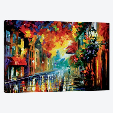 Misty City Mood Canvas Print #LEA48} by Leonid Afremov Art Print
