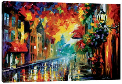 Misty City Mood Canvas Print #LEA48