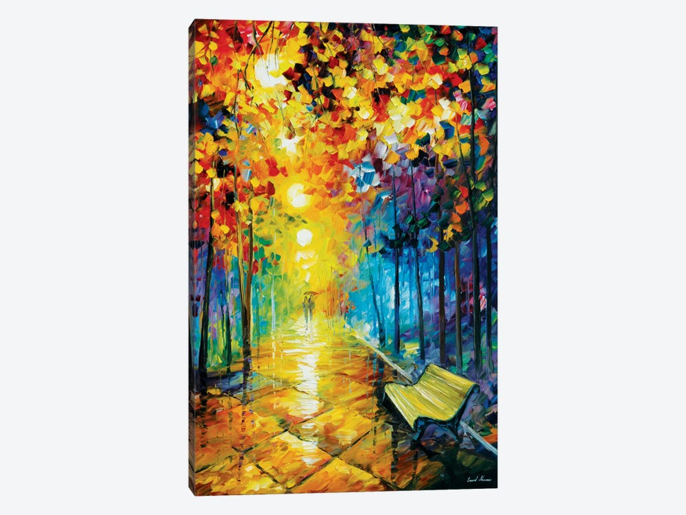 Misty Park I by Leonid Afremov 1-piece Canvas Artwork