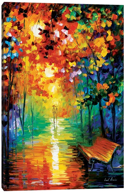 Misty Park II Canvas Art Print