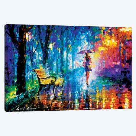 Misty Umbrella Canvas Print #LEA52} by Leonid Afremov Canvas Artwork