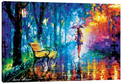 Misty Umbrella Canvas Art Print