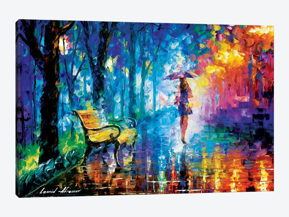 Misty Umbrella by Leonid Afremov 1-piece Canvas Artwork