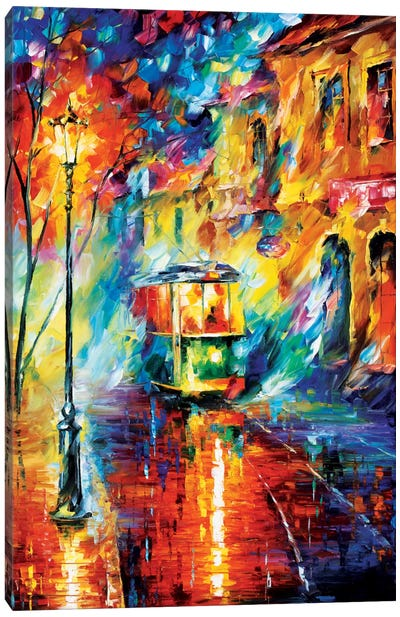Night Trolley Canvas Art Print