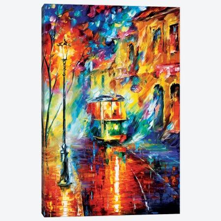 Night Trolley Canvas Print #LEA54} by Leonid Afremov Art Print