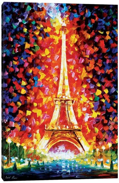 Paris - Eiffel Tower Lighted Canvas Art Print