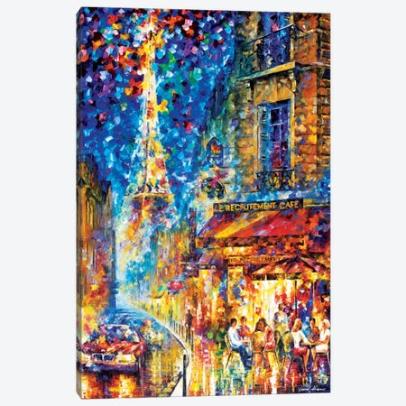 Paris - Recruitement Café Canvas Print #LEA56} by Leonid Afremov Art Print