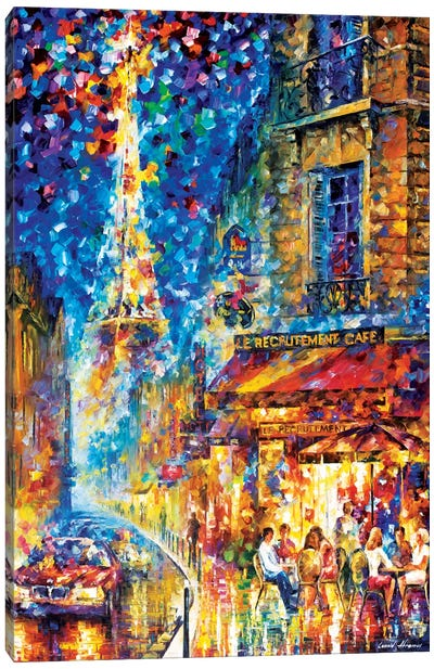 Paris - Recruitement Café Canvas Art Print