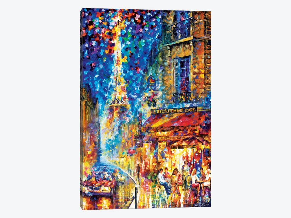 Paris - Recruitement Café 1-piece Canvas Artwork