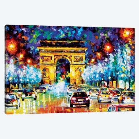 Paris Flight Canvas Print #LEA57} by Leonid Afremov Canvas Print