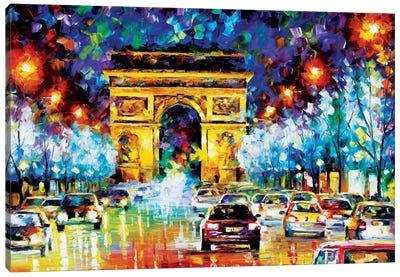 Paris Flight Canvas Art Print