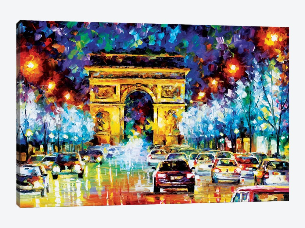 Paris Flight by Leonid Afremov 1-piece Canvas Print