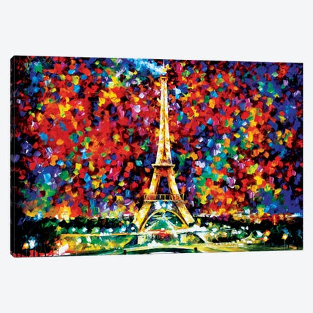 Paris Of My Dreams Canvas Print #LEA58} by Leonid Afremov Canvas Art