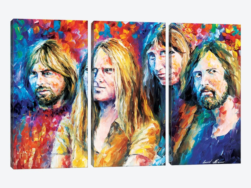 Pink Floyd by Leonid Afremov 3-piece Canvas Print