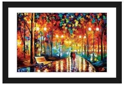 Rain's Rustle II Framed Art Print