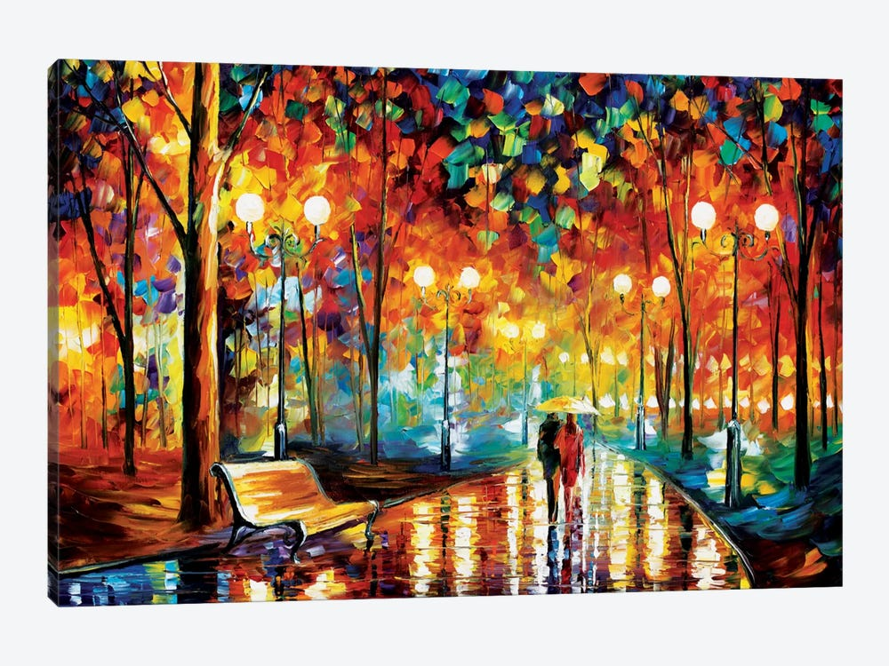 Rain 39 s rustle ii canvas art by leonid afremov icanvas for 3 by 3 prints