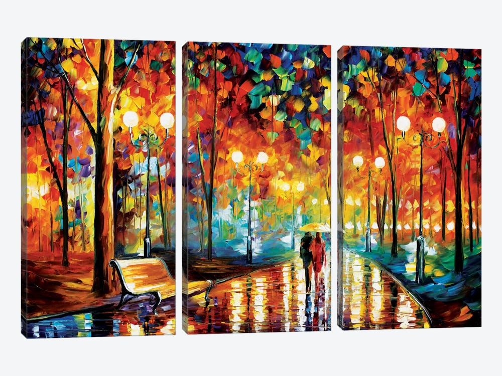 Rain's Rustle II by Leonid Afremov 3-piece Canvas Print