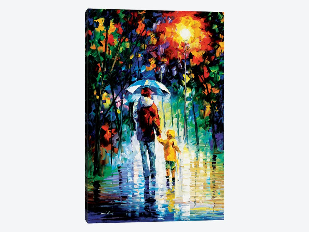 Rainy Walk With Daddy by Leonid Afremov 1-piece Art Print