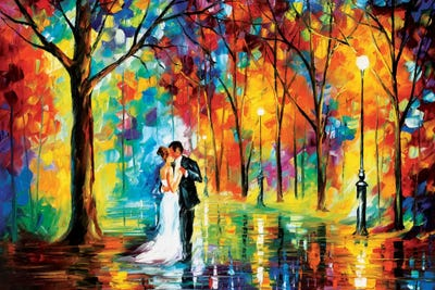 Rainy Wedding Canvas Artwork By Leonid Afremov Icanvas