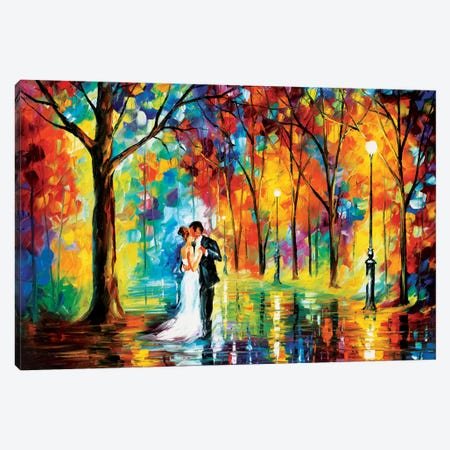 Rainy Wedding Canvas Print #LEA69} by Leonid Afremov Art Print